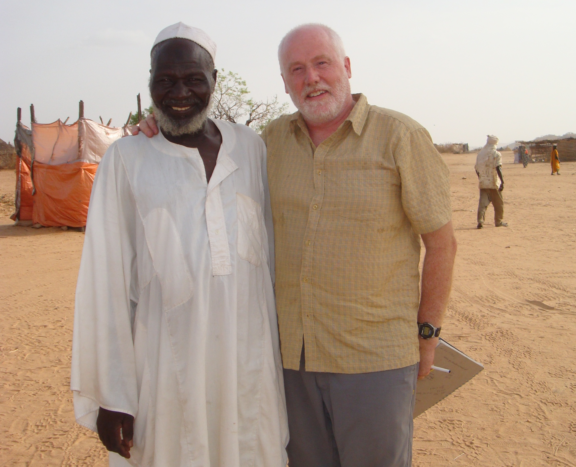 AI Canada's Secretary General Alex Neve reunites with village chief Abakar Yusuf