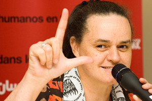Activists, such as Jenni Williams of Women of Zimbabwe Arise (WOZA) can be imprisoned in Zimbabwe for peaceful demonstrations (Photo Credit: Amnesty International).