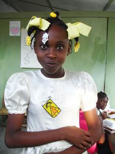 A school girl in Port-au-Prince