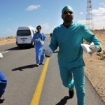 Libyan field medics try to reach wounded