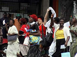 Women of Zimbabwe Arise marching in Harare, Zimbabwe