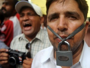 Pakistani Journalists Protest