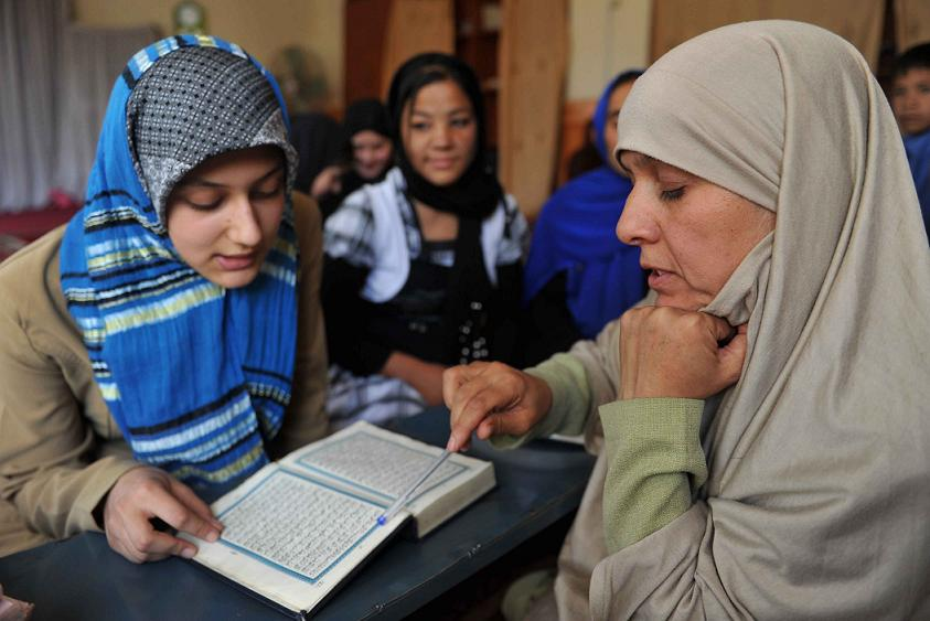 afghan women at school