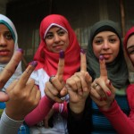 Ink-stained Fingers After Egyptian Elections