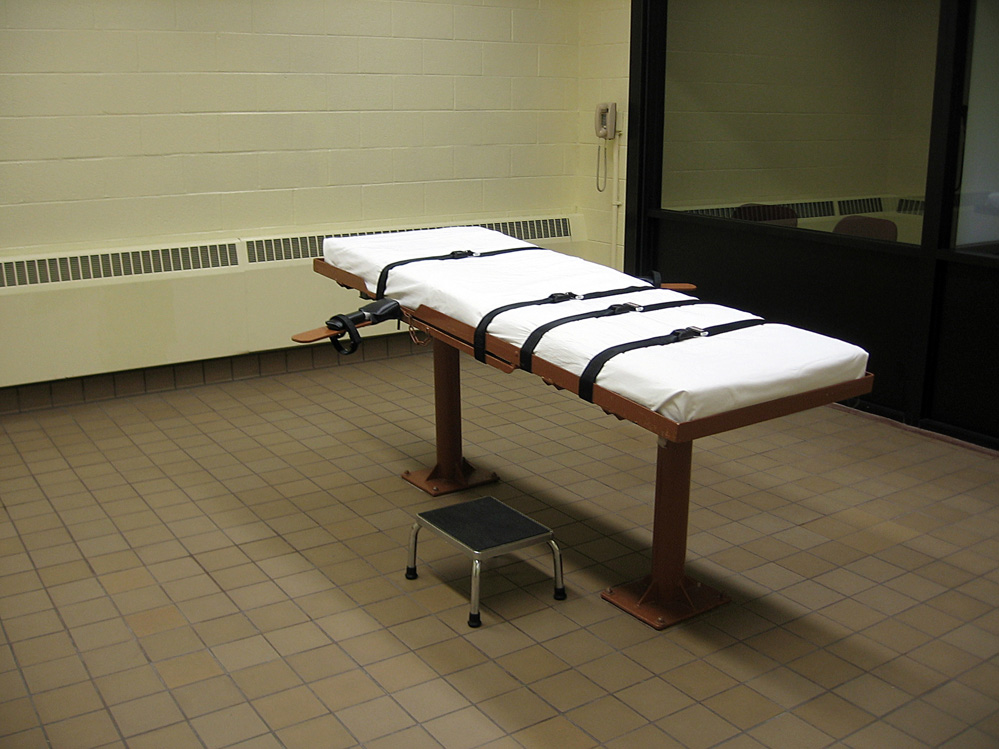 Witness room facing the execution chamber at the Southern Ohio Correctional Facility in Lucasville,Ohio