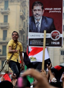 Muslim Brotherhood supporters in Egyptian elections