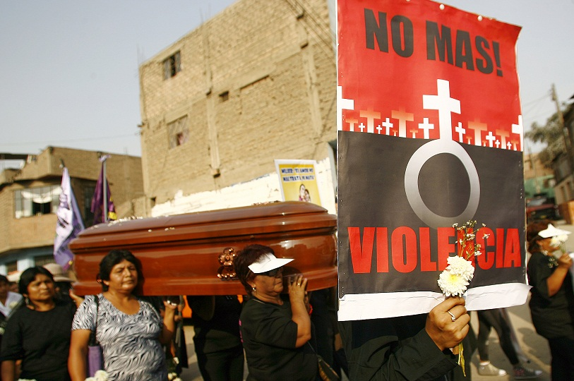 violence against women rally in peru