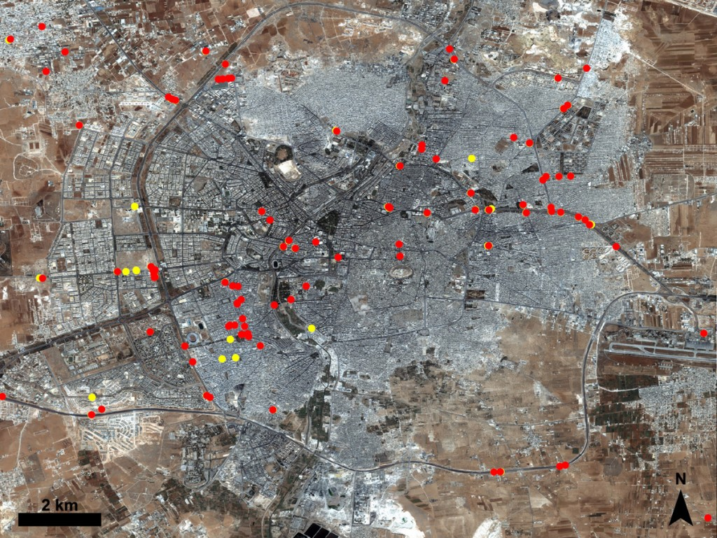 Syria Map And Satellite Image: Justice For Syria: How Satellites Can Help