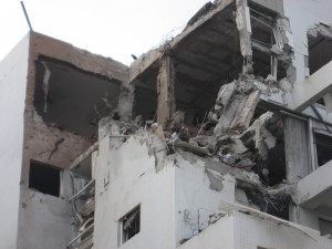 Damaged building in Rishon Lezion apartment building in Tel Aviv