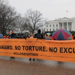Protest at the White House against the prison at Guantanamo