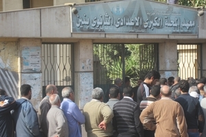 Egyptian polling place