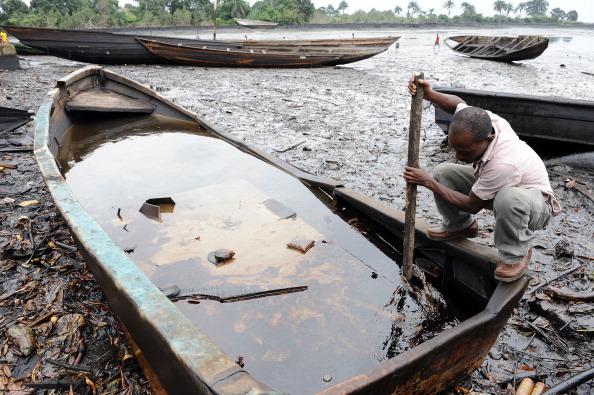 Oil spill in Nigeria's Ogoniland