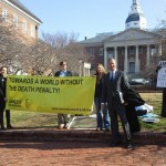 Maryland Governor Martin O'Malley and Lt. Governor Anthony Brown with Amnesty activists calling for death penalty repeal in Annapolis, Feb. 14, 2013.