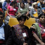 Relatives of victims of Guatemala's civil war attend the trial against Rios Montt for genocide during his de facto 1982-83 regime. The trial marks the first time genocide proceedings have been brought in relation to the 36-year civil war in Guatemala that ended in 1996, leaving an estimated 200,000 people dead, according to United Nations estimates (Photo Credit: Johan Ordonez/AFP/Getty Images).