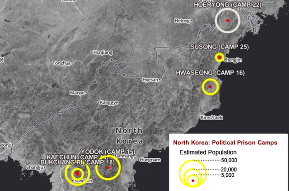 Explore the system of political prison camps in North Korea