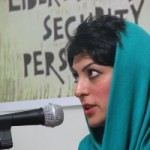 Shiva Nazar Ahari, a prominent human rights activist who has been jailed by the Iranian government several times.