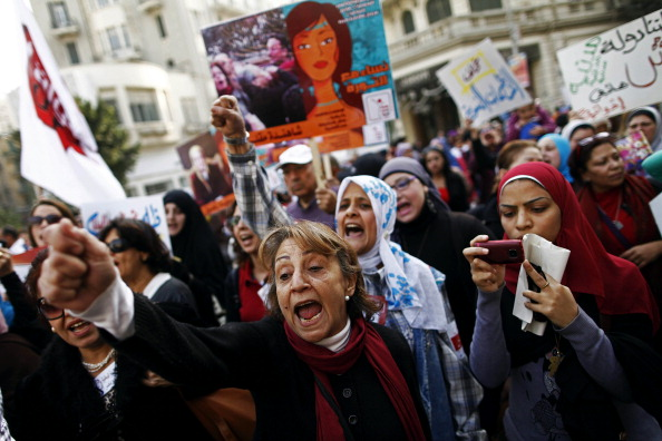 Faced with a spike in sexual violence against female protesters, Egyptian women are overcoming stigma and recounting painful testimonies to force silent authorities and a reticent society to confront 'sexual terrorism' (Photo Credit: Mahmud Khaled/AFP/Getty Images).