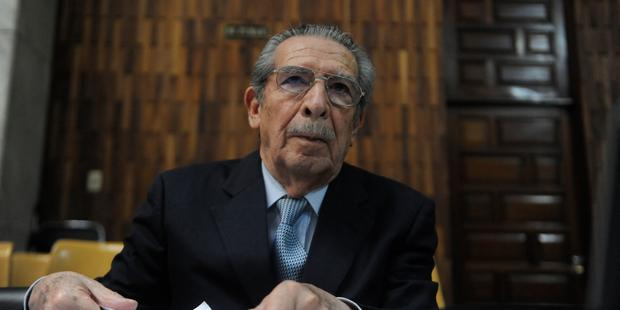Former Guatemalan leader General José Efraín Rios Montt is currently facing trial for genocide during his time in office (Photo Credit: Johan Ordonez/AFP/Getty Images).
