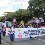 Women, girls, men and boys take to the streets in Nicaragua on the Day for the Decriminalization of Abortion in Latin America and the Caribbean (Photo Credit: Grace Gonzalez for Amnesty International).