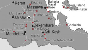 Click to see the full map of the extensive network of detention facilities in Eritrea (Photo Credit: Amnesty International USA).