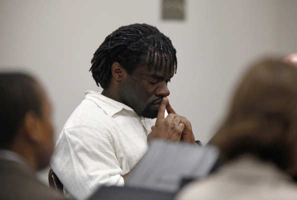 Death row inmate Marcus Robinson listens in Fayetteville, North Carolina as Judge Greg Weeks found that racial bias played a role in his trial and sentencing. It was the first case to be decided under the North Carolina's Racial Justice Act (Photo Credit: Shawn Rocco/Raleigh News & Observer/MCT via Getty Images).