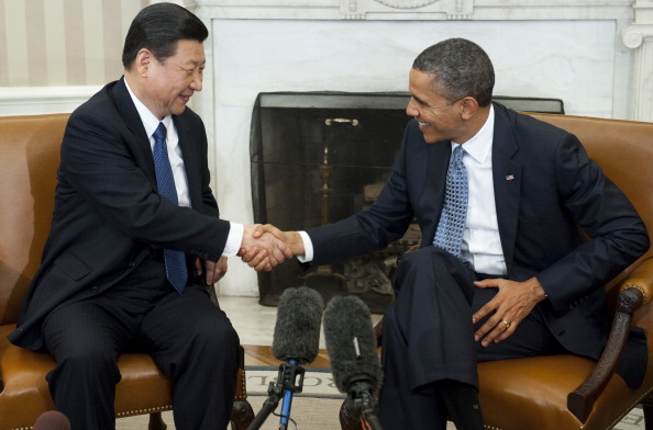 US President Barack Obama and Chinese Vice President Xi Jinping last met in February. When they meet again this week, they should not shy away from the topic of human rights (Photo Credit: Saul Loeb/AFP/Getty Images).