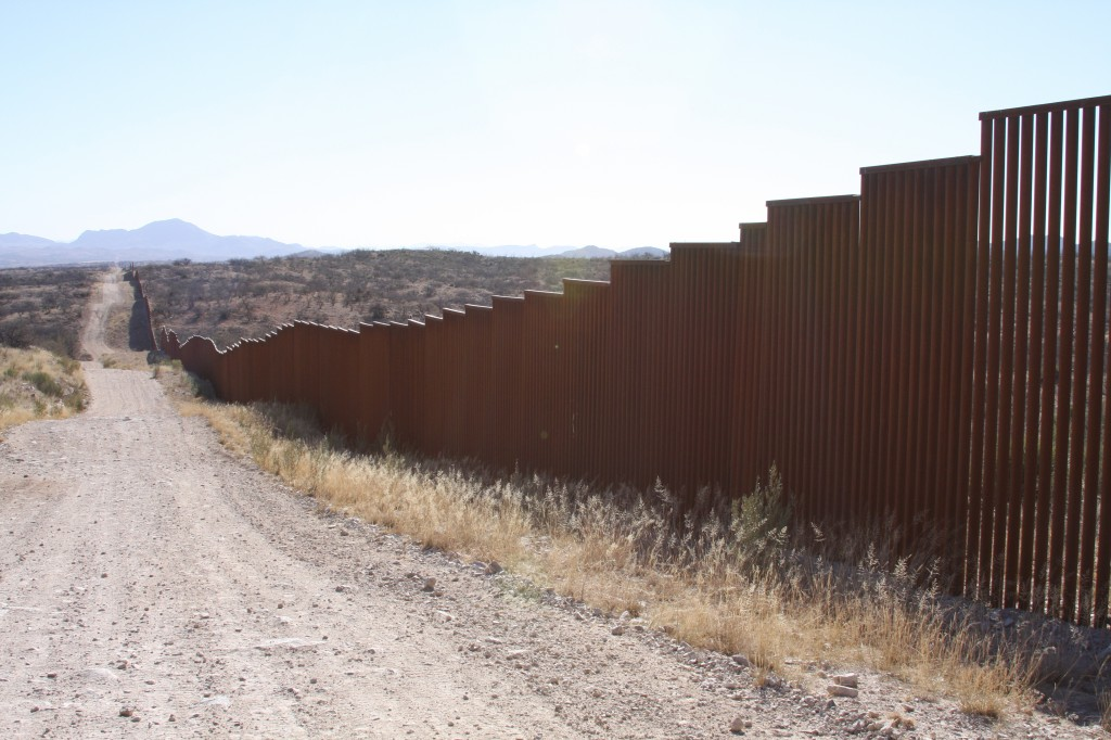 Border fence near Sasabe, Arizona (Photo Courtesy of Tasya van Ree).