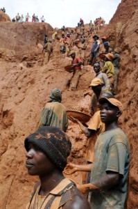 The conflict in the Congo has often been linked to a struggle for control over its minerals resources. The Congo is rich in mineral resources such as gold, diamonds, tin, and cobalt (Photo Credit: Lionel Healing/AFP/Getty Images).