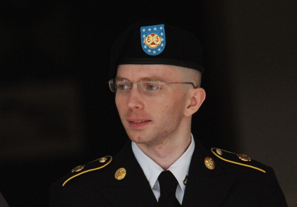 Army Pfc. Bradley Manning being escorted from court (Photo Credit: Mandel Ngan/AFP/Getty Images).