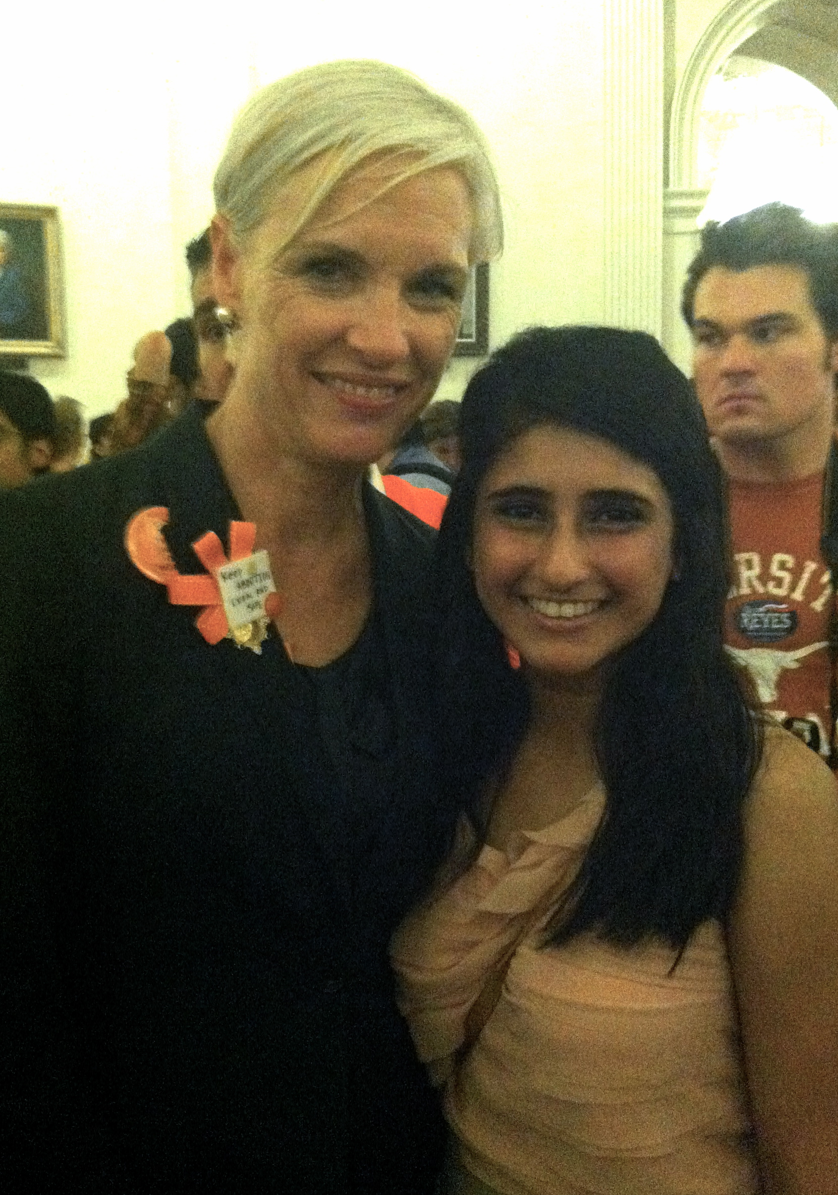Sahare Wazirali with Cecile Richards (Photo Credit: Sahare Wazirali).