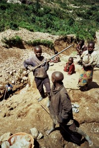 Children perform the most unskilled but heavy labor in eastern DRC's artisanal mines. Mining is recognized as one of the Worst Forms of Child Labor in international standards (Photo Credit: Amnesty International/IPIS).