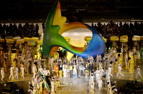 Rio de Janeiro, the next host city, makes its presentation during the Closing Ceremony of the London 2012 Olympic Games (Photo Credit: Stu Forster/Getty Images).