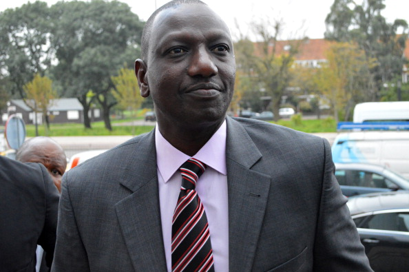 Kenyan Deputy President William Ruto arrives on September 23, 2013 at the International Criminal Court in The Hague.