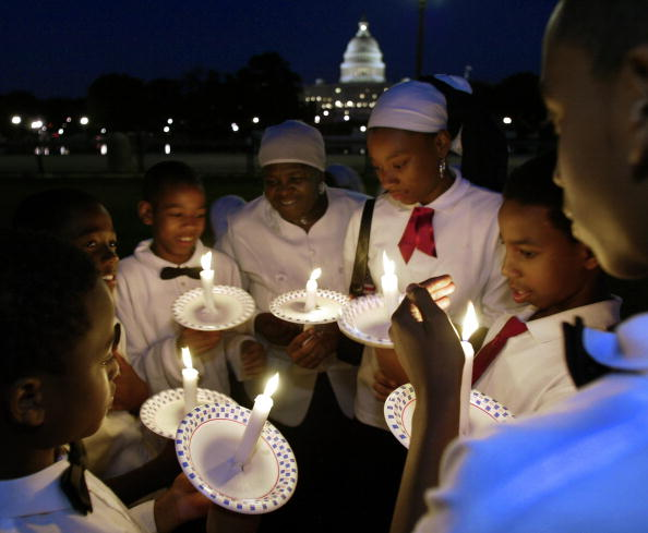 A vigil marking 9/11 near the U.S. Capitol. September 10, 2003 (Photo Credit: Paul J. Richards, AFP via Getty Images).