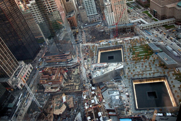 The National 9/11 Memorial, 'Reflecting Absence,' at Ground Zero on November 1, 2011 in New York City (Photo Credit: Ben Hider via Getty Images).