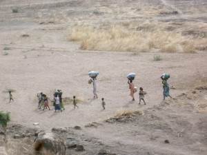 Displaced people fleeing Southern Kordofan after bombings in Tess and Buram (Photo Credit: Private).