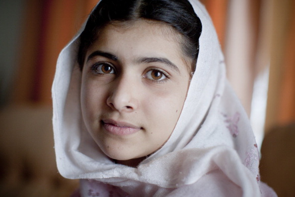 Malala Yousafzai, a 16-year-old Pakistani education and women's rights advocate, was shot in the head and neck during an assassination attempt by a Taliban gunman on October 9, 2012. A year later, stand with Malala and take action to stop violence against women and girls (Photo by Veronique de Viguerie/Getty Images).