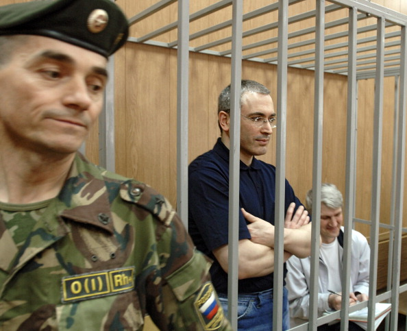 Mikhail Khodorkovsky during his sentencing in 2005 (Photo Credit: Sovfoto/UIG via Getty Images).