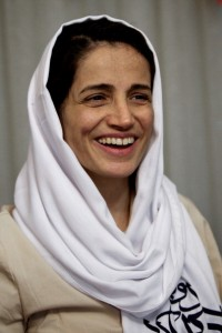Iranian lawyer Nasrin Sotoudeh after being freed after three years in prison (Photo Credit: Behrouz Mehri/AFP/Getty Images).