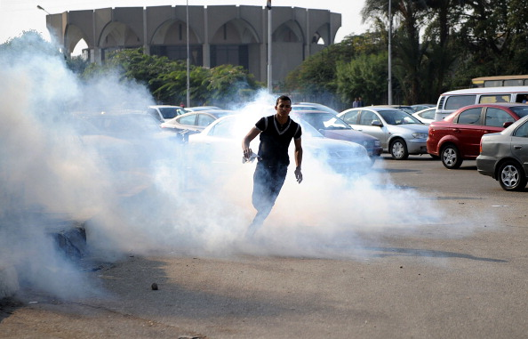 gyptian security forces have used tear gas to disperse protesters (Photo Credit: Muhammed Elshamy/Anadolu Agency/Getty Images).