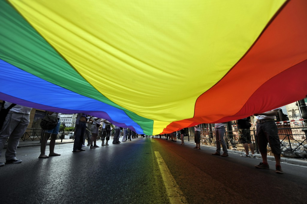 Participants attends the 2009 Athens Gay Pride on June 13, 2009 (Photo Credit: Aris Messinis/AFP/Getty Images).