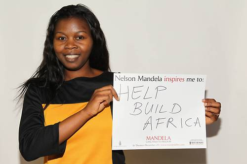 "With the release of the film ""Mandela: Long Walk to Freedom,"" Amnesty International USA, in conjunction with The Weinstein Company, is going around the country asking people like you one question: ""What does Nelson Mandela inspire you to do for human rights?"""