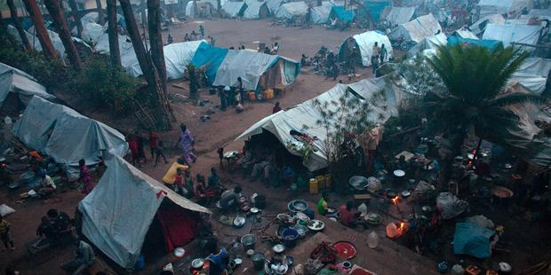 Tens of thousands of people have been displaced by the violence gripping Central African Republic (Photo Credit: Matthew Alexandre/AFP/GettyImages).
