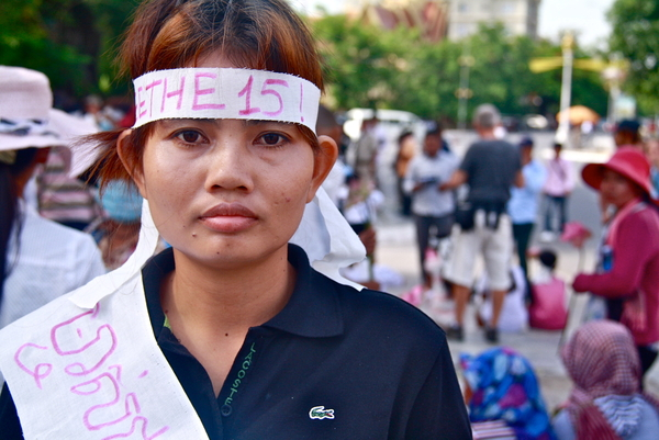 Yorm Bopha was 29 when she was arrested on September 4, 2012 on spurious charges. She is a prominent activist from the Boeung Kak Lake community who is facing up to five years' imprisonment if found guilty at her trial. She is a prisoner of conscience (Photo Credit: Jenny Holligan).