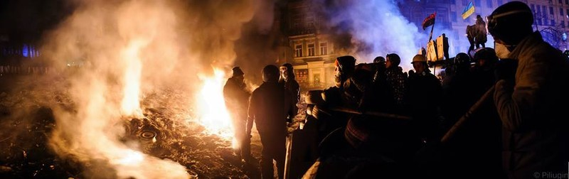 Scene from a protest in Ukraine in late January of this year (Photo Credit: Alexandr Piliugun/Amnesty International).