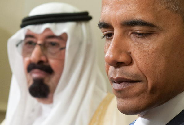 President Obama with King Abdullah of Saudi Arabia during meetings in the Oval Office at the White House in Washington on June 29, 2010 (Photo Credit: Saul Loeb/AFP/Getty Images).