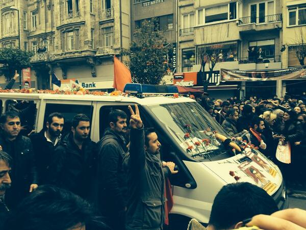 Photograph of Berkin Elvan's funeral procession (Photo Credit: Andrew Gardner/Amnesty International USA).