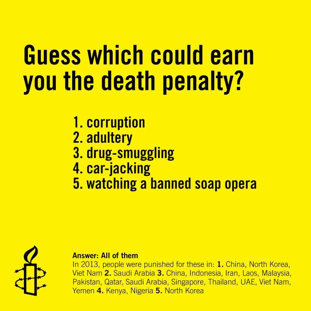 Five reasons to abolish the death penalty