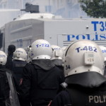 Turkish riot police use water cannons and tear gas to disperse protesters during a May Day demonstration on May 1, (Photo Credit: Burak Kara/Getty Images).