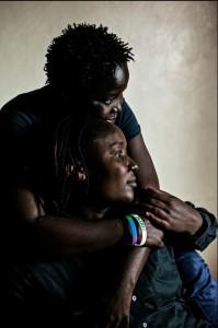 May and her partner in Nairobi, Kenya in April 2013 (Photo Credit: Pete Muller/Amnesty International).